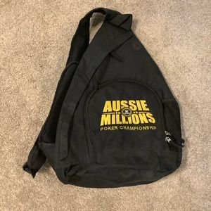 🌟HOST PICK🌟 Aussie Millions Poker Sling Backpack